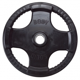 Body-Solid Olympic Rubber Disk Black 10Kg ORTK10