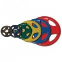 Body-Solid Olympic Rubber Disk Giallo 15Kg ORCK15