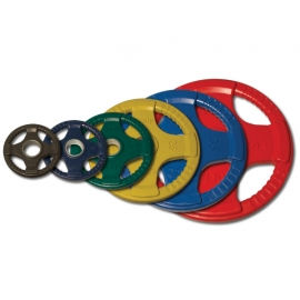 Body-Solid Olympic Rubber Disk Rosso 25Kg ORCK25