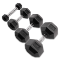 Body-Solid Pro Style Rubber Dumbbell Hex Kg/Paio HEXRU