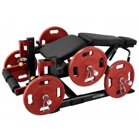 Steelflex Leg Curl Machine PLLC - Black
